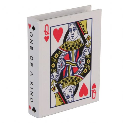 Queen of Hearts Playing Card Storage Box Gift Poker and Casino Gift Ideas